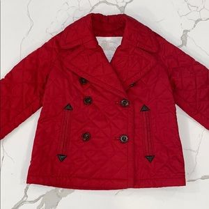 Burberry Kids Children Quilted Peacoat Jacket 3y